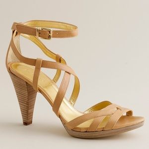 New J Crew Candace leather platform heels